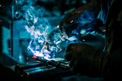Craftsman weld steel Stock Photography