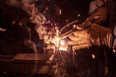 Craftsman weld steel Royalty Free Stock Photo
