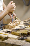 Craftsman of the wood Royalty Free Stock Photos