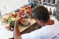 Craftsman at work Stock Image