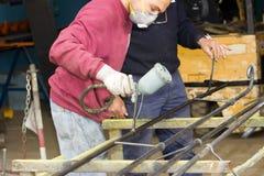 Craftsman at work Stock Images