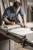 Craftsman at the workbench Royalty Free Stock Photos