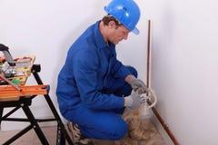 Craftsman working Royalty Free Stock Photos
