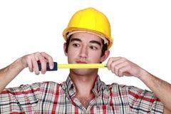 Craftsman workingmeter Royalty Free Stock Image