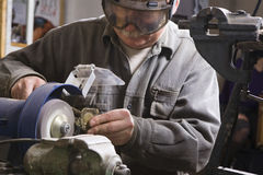 Craftsman Working With Stone Royalty Free Stock Images