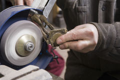 Craftsman Working With Stone Royalty Free Stock Photography
