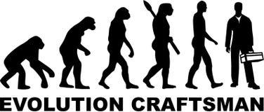 Craftsman Workman evolution. Vector occupation Royalty Free Stock Photos