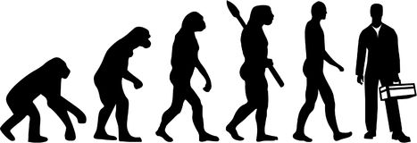 Craftsman Workman evolution. Vector occupation Stock Image