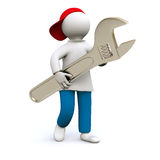Craftsman with wrench Royalty Free Stock Photography