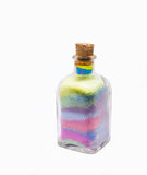 Craftsmanship bottle of sand colored. Home decor crystal bottle of sand colored handmade Royalty Free Stock Images