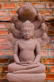 Craftsmanship Buddha from sandstone Royalty Free Stock Photography