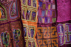 Patterned colorful fabric Royalty Free Stock Images