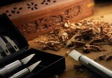 craftsmanship drewno obraz stock