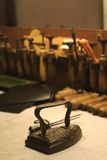 Craftsmanship gear. Florence leather school. Firenze, Santa Croce Stock Photography