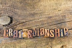 Craftsmanship ilości worksmanship znak zdjęcie royalty free