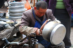 Craftsmen  in  southwest  china Royalty Free Stock Photography