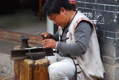 Craftsmen  in  southwest  china Stock Photos