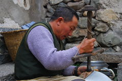 Craftsmen  in  southwest  china Royalty Free Stock Images