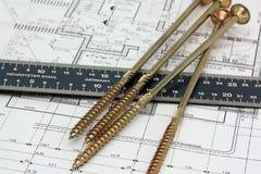Craftsmen tools Royalty Free Stock Image