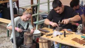 Craftsmen stock footage