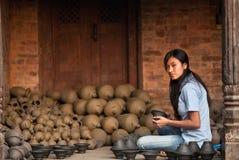 craftswoman nepalese Стоковая Фотография