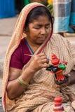Craftswoman op het werk Royalty-vrije Stock Foto