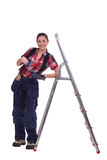Craftswoman painter posing Stock Photo