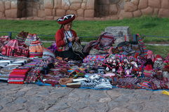 Craftswoman in Peru Stock Photo