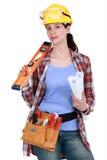 Craftswoman posing Royalty Free Stock Image