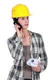 Craftswoman talking on her phone Stock Photos