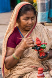 Craftswoman at work Royalty Free Stock Photo