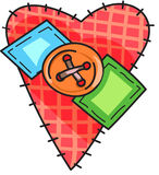 CRAFTY HEART Royalty Free Stock Photography