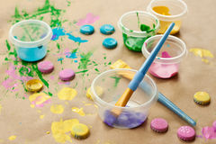 Crafty painting royalty free stock photo