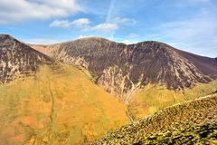 The ridgeline off Sail and crag Hill. Crag Hill, Scar Crags and Sail from Knott Rigg Royalty Free Stock Images