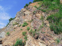 Crag. On signal peninsula in Petropavlovsk-Kamchatsky. Kamchatka Royalty Free Stock Photos