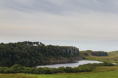 Cragg Lough on the Roman Wall. Northumberland, England. UK. In the early morning Stock Image