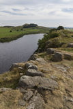 Cragg Lough on the Roman Wall. Northumberland, England. Stock Photography