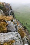 Cragg Lough on the Roman Wall. Northumberland, England. UK. In the early morning Stock Photo