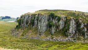 Craggs de acero, en Roman Wall Northumberland, Inglaterra Imagenes de archivo