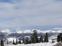 craggy зима снежка гор стоковая фотография