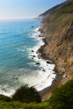 The craggy and beautiful shore line at Ragged point on the Pacific Coast Highway. stock photography