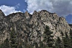 Craggy klippor av konungkanjonen Fotografering för Bildbyråer
