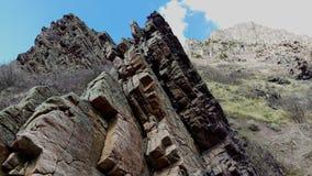 Craggy Outcrop in Slate Canyon. A craggy outcrop jutting out of the canyon floor in Slate Canyon. Provo, Utah, USA Royalty Free Stock Photography
