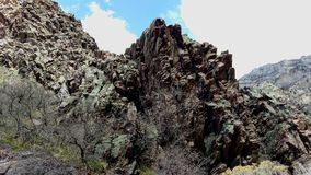 Craggy Outcrop in Slate Canyon royalty free stock photo