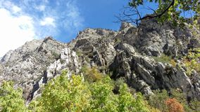 Craggy Outcrop in Rock Canyon royalty free stock image