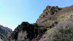 Craggy Outcrops in Slate Canyon Stock Photo
