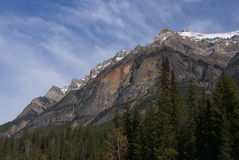 Craggy peak in the Rockies. Columbia Icefield Parkway, Alberta, Canada stock photos