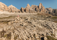 Craggy peaks in Dolomites Royalty Free Stock Photography