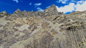 Craggy Peaks of Slate Canyon royalty free stock images