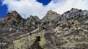Craggy Peaks in Slate Canyon royalty free stock image